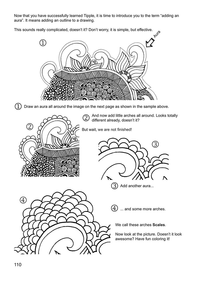 Tangle It Coloring Book Page 110