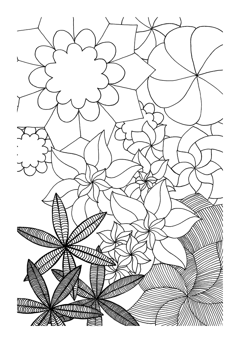 Tangle It Coloring Book Page 135