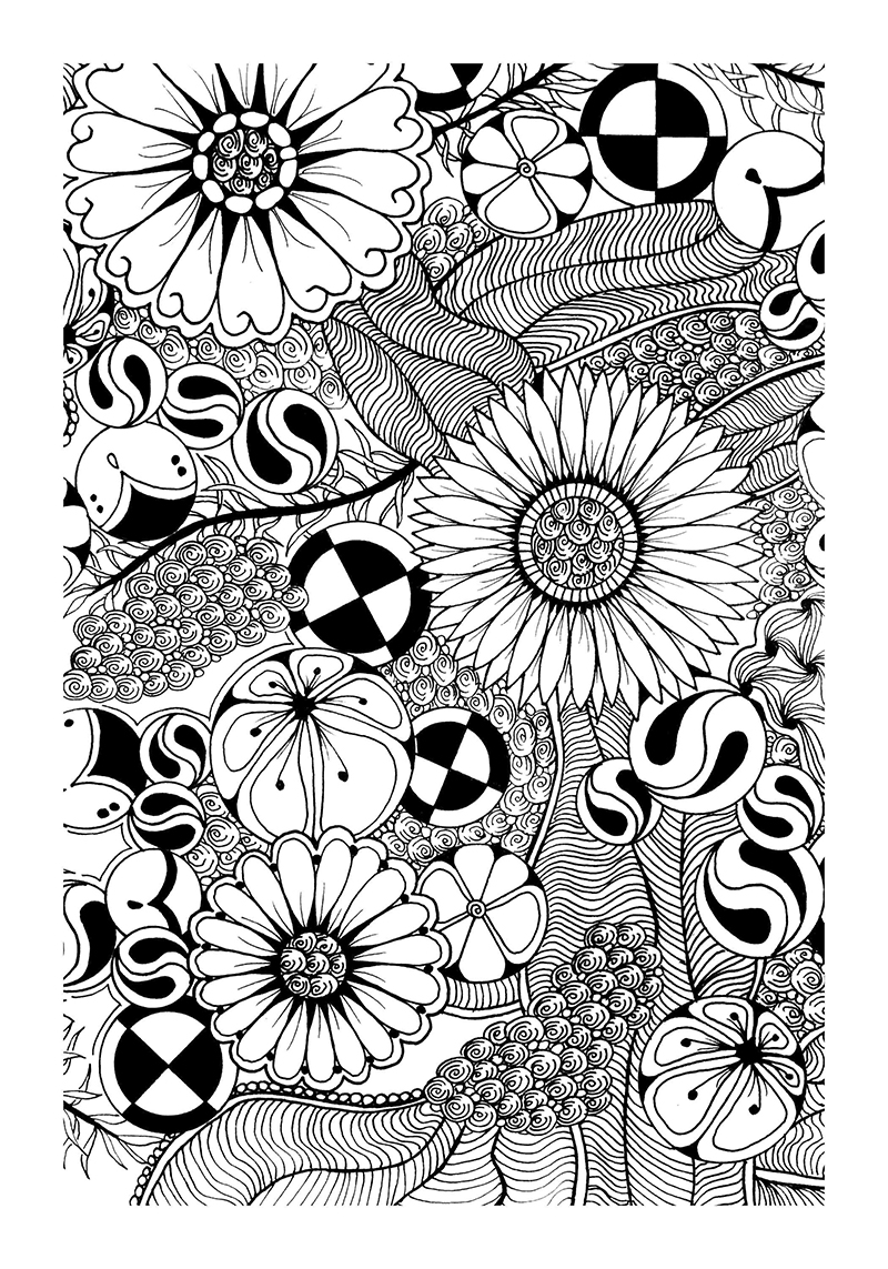 Tangle It Coloring Book Page 33